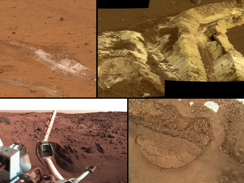 Sampling of Martian soils