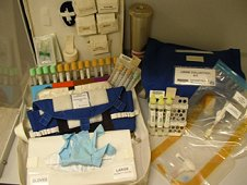 The Nutrition blood and urine collection kits for in-flight sample collection on board the International Space Station. (NASA)