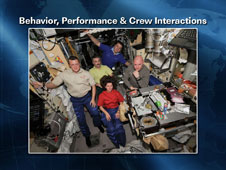 Behavior, performance, and crew interactions
