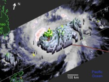 NASA TRMM satellite visualized Typhoon Bopha in 3-D as it moved through the western North Pacific Ocean.