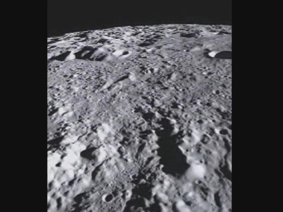 NASA's GRAIL mission took this flyover video above the Mare Orientale basin of Earth's moon.