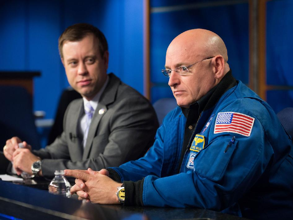 Josh Byerly and NASA astronaut Scott Kelly
