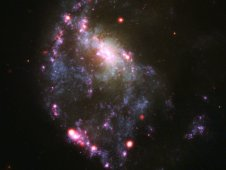 Composite image of ring galaxy NGC 922