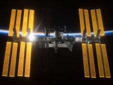 The International Space Station taken from Space Shuttle Discovery as the Sun rises from behind Earth. The STS-119 and Expedition 18 crew took this picture after leaving the Space Station in March 2009. (NASA/ESA)