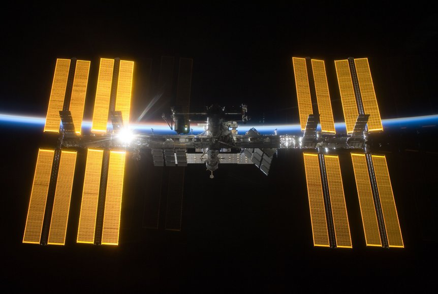 Nasa International Space Station Salutes The Sun
