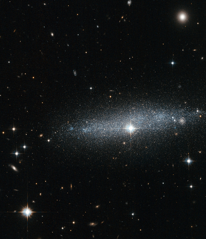 sparkly glittery galaxy is less diffuse than most