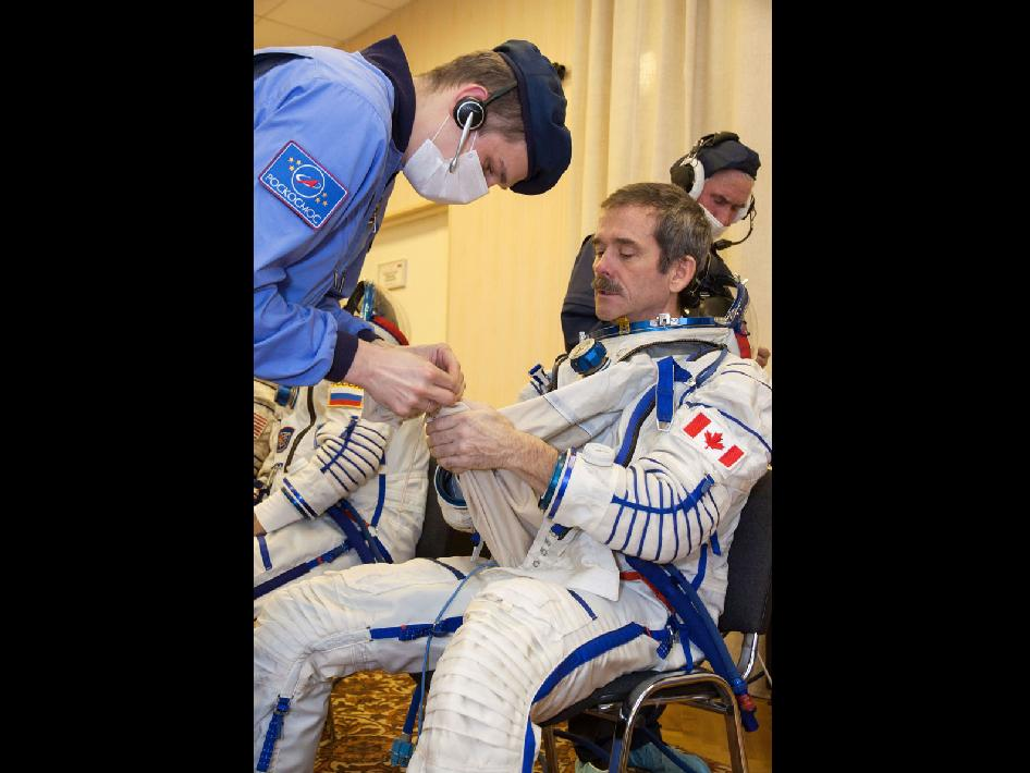 Expedition 34 Flight Engineer Chris Hadfield