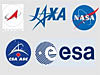 Logos for five different space agencies