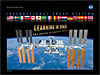 Front of the International Space Station Learning in Space The Journey of Exploration Continues... poster featuring the orbiting space station and the flags of all 16 partner countries