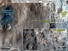 Curiosity's traverse map