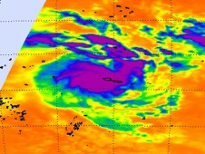AIRS captured an infrared image of newborn Tropical Storm Evan over American Samoa on Dec. 12, 2012.
