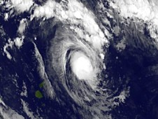 GOES-15 captured this visible image of newborn Tropical Storm Evan in the South Pacific on Dec. 12, 2012.
