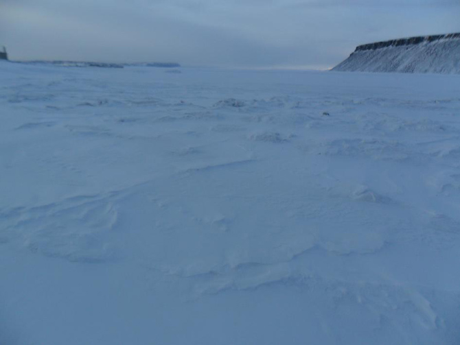 Looking out across the sea ice near Thule, Greenland.