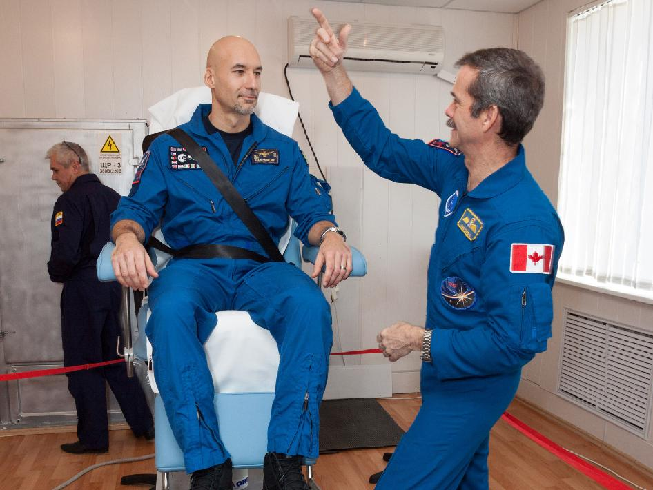 Luca Parmitano and Chris Hadfield