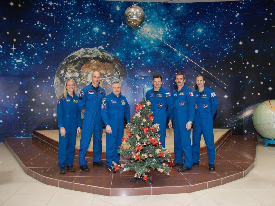 Expedition 34 prime and backup crew members