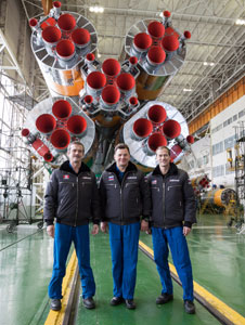 JSC2012-E-242597: Expedition 34 with Soyuz