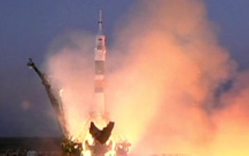 Soyuz Launches. Credit: NASA TV