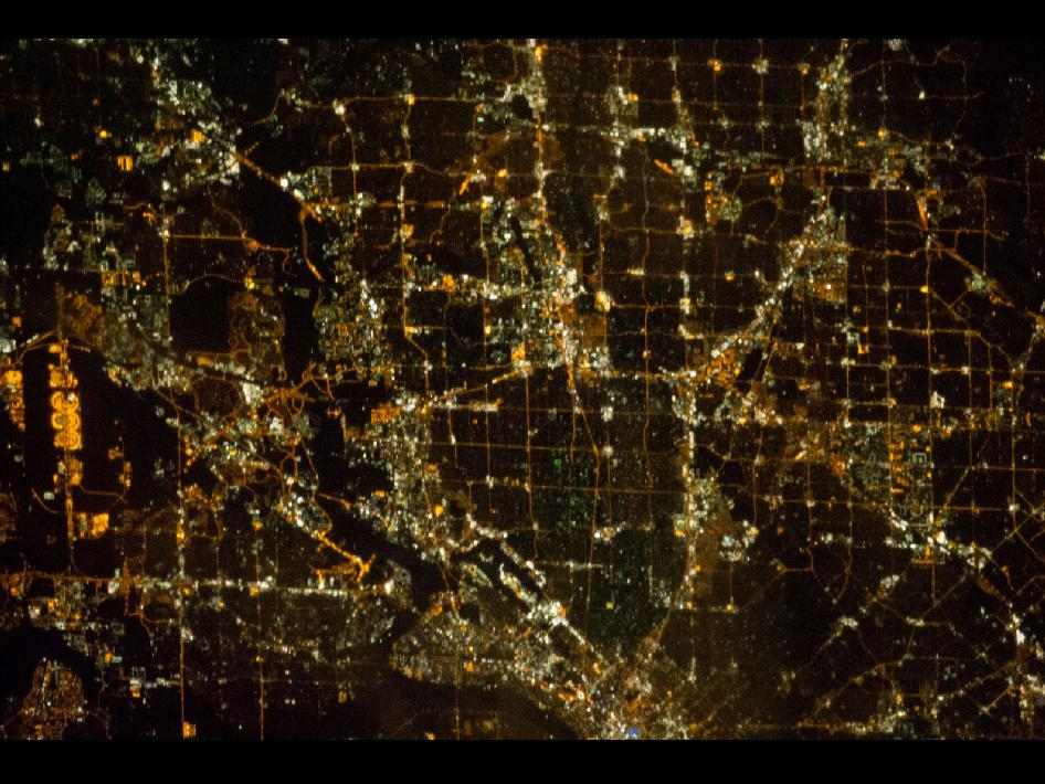 Nighttime View of Dallas, Texas