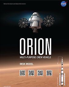 Cover of the Orion Multi-Purpose Crew Vehicle desk model