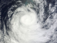 MODIS image of Evan