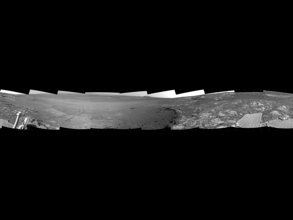 Opportunity's surroundings on Sol 3071