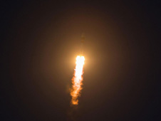 201212190014hq -- The Soyuz TMA-07M rocket launches from the Baikonur Cosmodrome in Kazakhstan