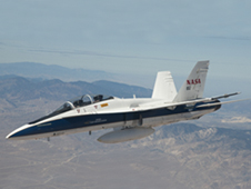 NASA's F/A-18B mission support aircraft 852 started flying a series of low-supersonic flight profiles in 2012.
