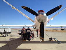 NASA coordinated successful test flights on the Ikhana unmanned aerial vehicle of equipment that might be used to improve communications between aircraft in flight and on the ground in the Next Generation Air Transportation System.