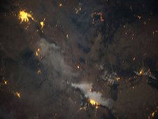 Downlinked from the International Space Station, this image shows the wild fires in the Southwest United States in early June 2012. (NASA)