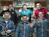 The six-member Expedition 34 crew participates in a welcome ceremony
