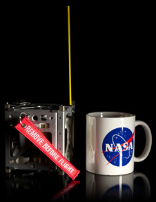 Size of a NASA coffee cup! A trio of CubeSats makes up the innovative PhoneSat Project to be launched next year.