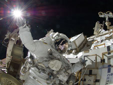 ISS032-E-025275: Astronaut Suni Williams during spacewalk