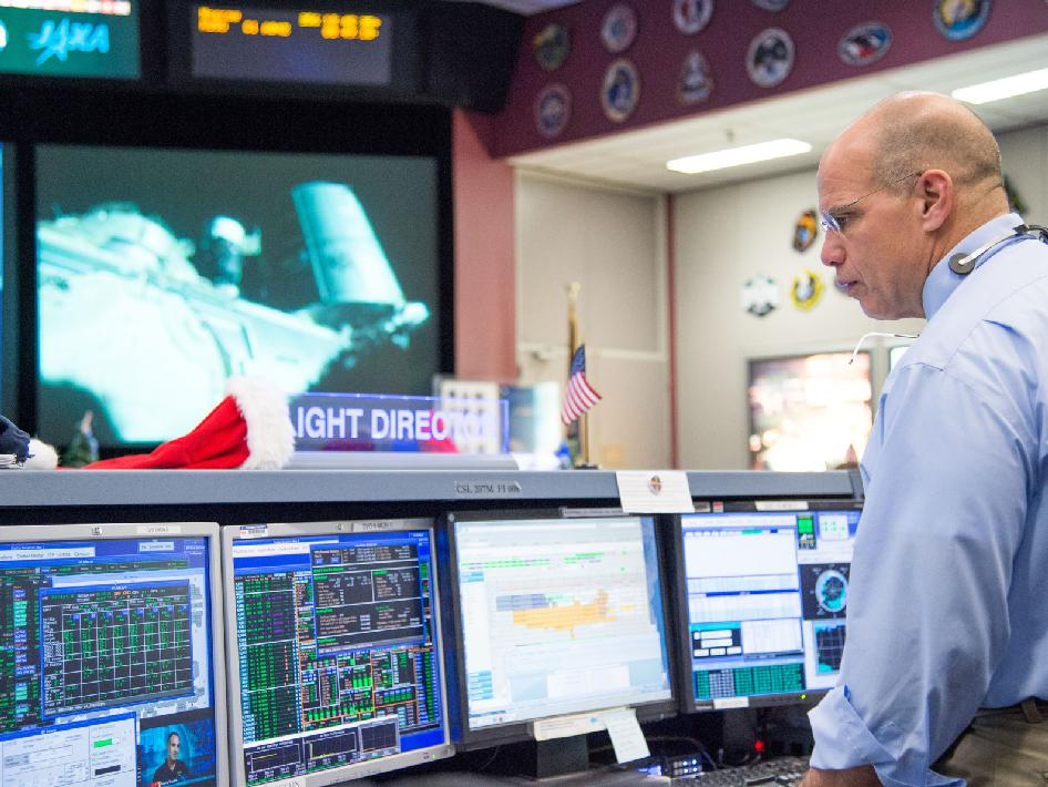 Space station flight control room