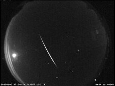 A Quadrantid meteor seen over New Mexico in the early morning hours of Jan. 3, 2013