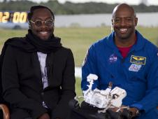 Musician will.i.am and former astronaut Lelan Melvin