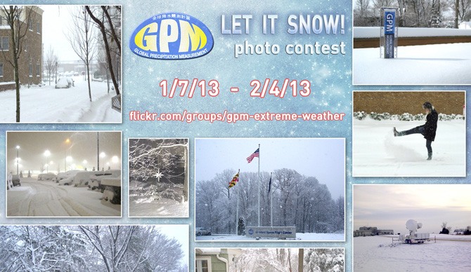 GPM Let it Snow Photo Contest banner. 1/7/13-2/4/13