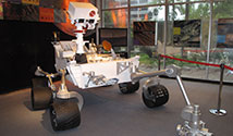 Model of NASA's Mars Curiosity rover. Photo Credit: NASA