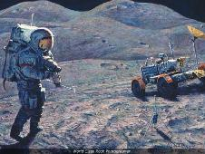 alan bean's painting entitled 'first class rock photographer'