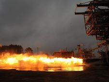 On Jan. 10, 2013, the Saturn V F1 gas generator completed a 20 second hot fire test at the Marshall Center.