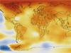 2012 global temperature change map