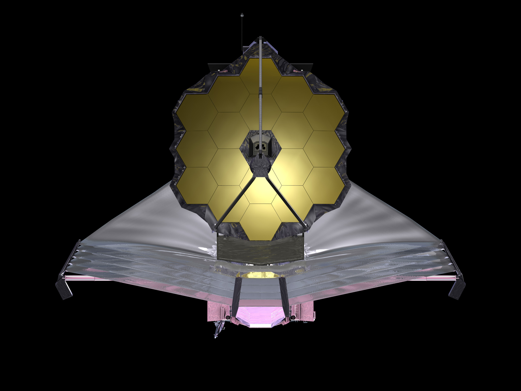 September 2009 artist conception of NASA's James Webb Space Telescope. Credit: NASA