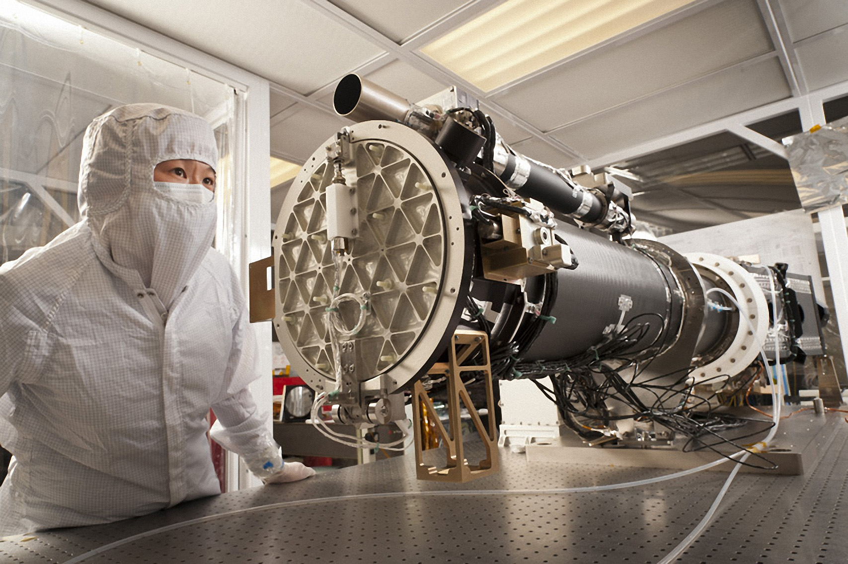Nasa nasa 39 s iris spacecraft is fully integrated for Space and co