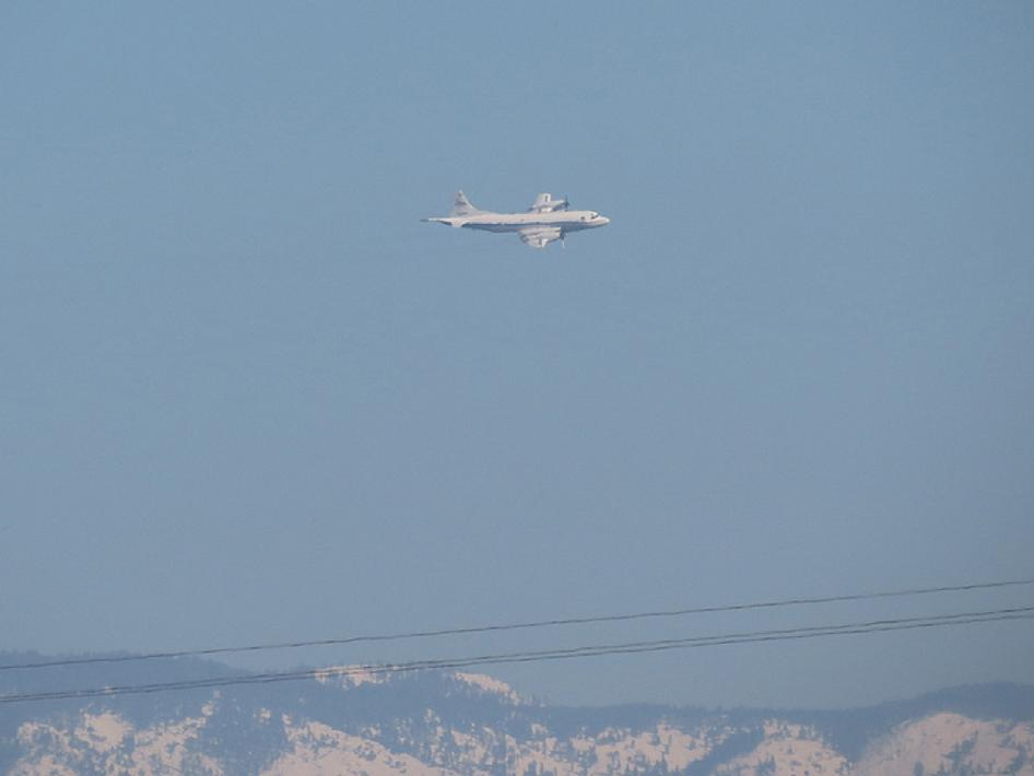 NASA P-3B during it's first flight of DISCOVER-AQ California 2013.