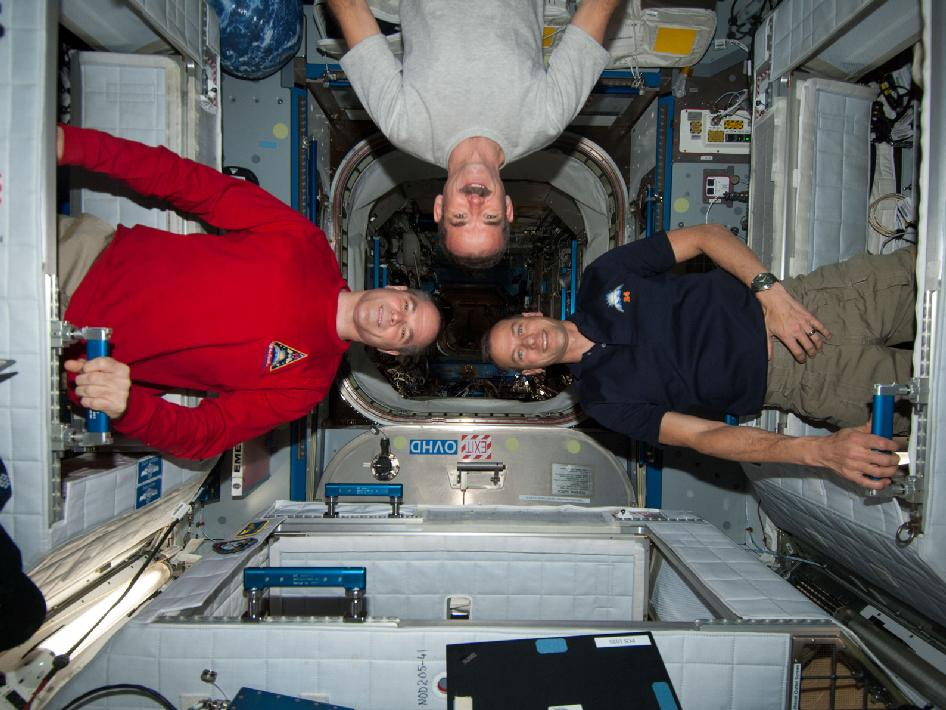 Kevin Ford, Chris Hadfield and Tom Marshburn