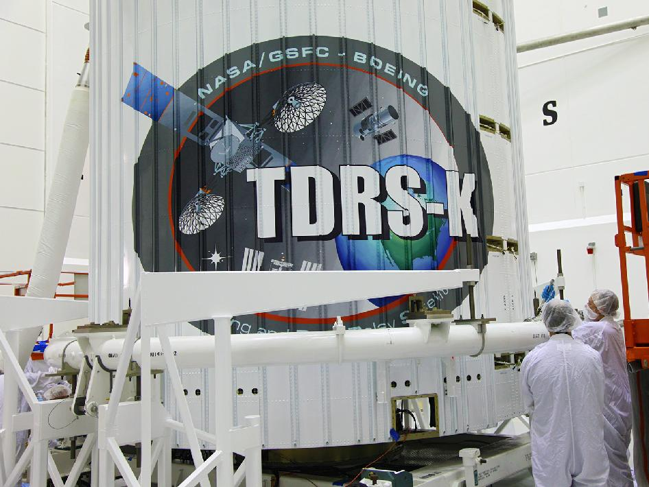 TDRS-K emblem on the fairing.