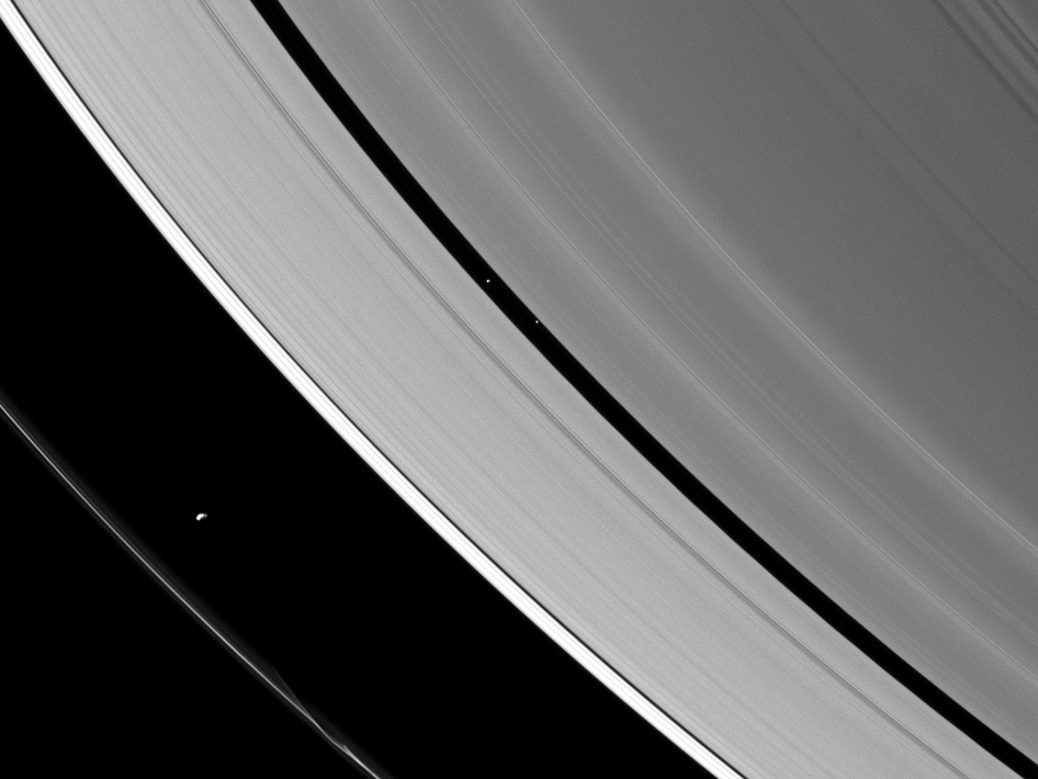The ring-region Saturnian moons Prometheus and Pan