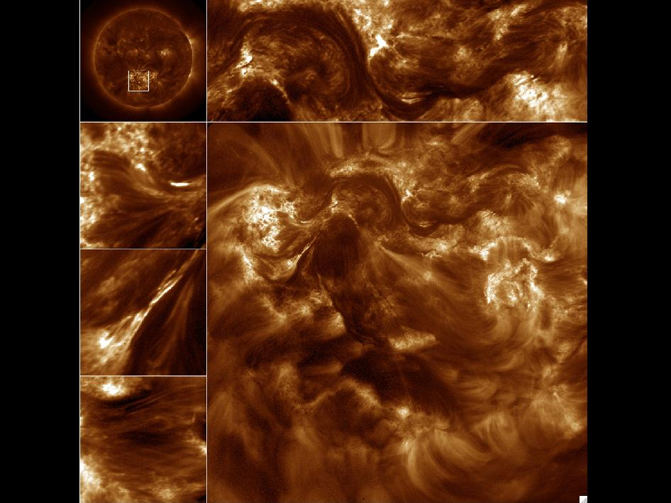 Hi-resolution Coronal Imager image of solar activity.