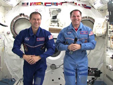 NASA astronauts Kevin Ford (right) and Tom Marshburn