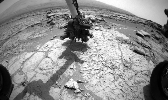 Curiosity's drill in place for load testing