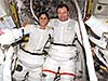 Two astronauts on board the space station